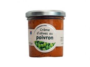 Les amandes et olives du Mont Bouquet - Crème d'olives aux poivrons 180 g
