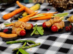 La ferme Grandvillain - Mini Brochettes - Tapas De Poulet - Marinade Indienne - 4  X 80 G