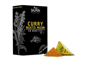 Epices Max Daumin - Curry Recette Maison - Boite de dix dosettes