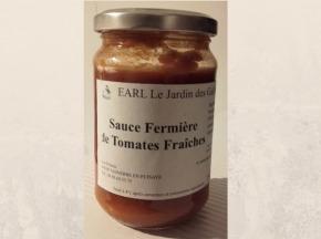 Le Jardin des Gallines - Pot De Sauce Fermière De Tomates Fraiches Bio