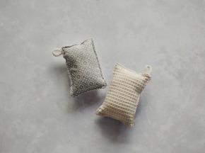 Zanca Créations - Éponges Lavables Lot de 2 : 1 Nid d'Abeilles + 1 Coton de Bambou