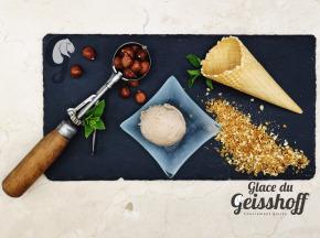 Glace du Geisshoff - Praliné Noisette de Bronte Crème Glacée Fermière au Lait de Chèvre 750 ml