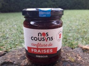 Nos cousins Conserverie - Confiture De Fraise - Infusion D'hibiscus 240g