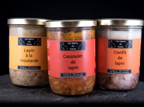 Les Lapins du Forez - Assortiment des 3 Plats Cuisinés au Lapin