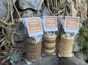 Le Jardin des Antipodes - Lot De 3 Biscuits Coeur De Citron Caviar