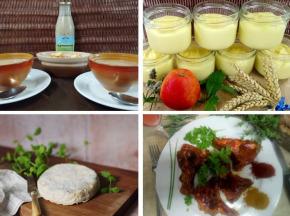 Ferme du caroire - Panier repas complet spécial côtelettes : entrée, plat, fromage, dessert (4 personnes)