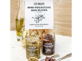Les Niçois - Sous Les Oliviers (tapenade Noire Et Verte 2x80g Et Mini-focaccias Au Romarin 110g)
