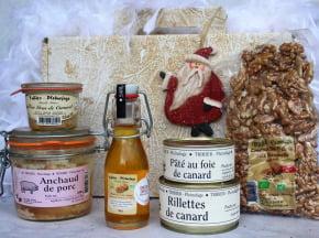 Ferme de Pleinefage - 10 Box Noël 100 % Périgord : Foie Gras, Noix, Anchaud, Canard, huile