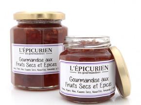 L'Epicurien - GOURMANDISE AUX FRUITS SECS ET AUX EPICES (Pomme, Poire, Noix, Raisins Secs, Noisettes, Amandes, Epices)