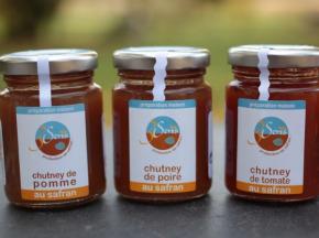 Berry 3 Sens - Lot De 3 Chutneys Au Safran De 100 G :Pommes, Poires Et Tomates