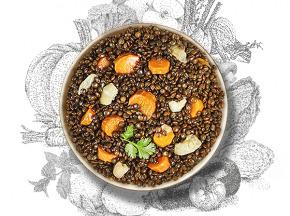 La Brouette - Pour 2 Pers. - Lentilles Vertes Aux Petits Légumes À La Coriande Fraîche