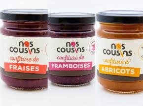 Nos cousins Conserverie - Trio De Confitures: Fraise, Framboise, Abricot 3x240g