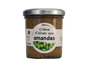 Les amandes et olives du Mont Bouquet - Crème d'olives et amandes 180 g