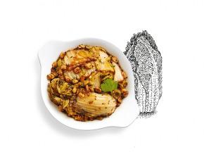 La Brouette - Pour 2 pers - Chou Chinois Braisé Aux Raisins Et À La Sauce De Soja