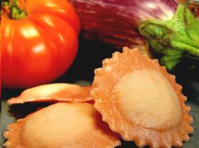 Les Pâtes Côté Mont Blanc - Ravioli Tomate Confite Aubergine