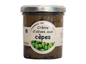 Les amandes et olives du Mont Bouquet - Crème d'olives aux cèpes 180 g