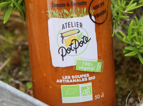 Atelier PotPote - Conserverie Artisanale Bio - Gaspacho Tomate & Sarriette Bio
