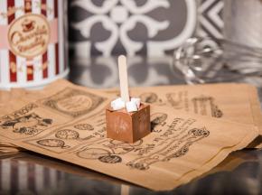 Le Petit Atelier - Sucette Chocolat Chaud Lait Et Chamallows
