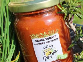 """Atelier PotPote - Conserverie Artisanale Bio - Sauce Tomate """"variétés Anciennes"""""""