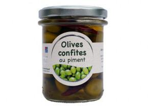 Les amandes et olives du Mont Bouquet - Olives Confites Aux Piments 165g