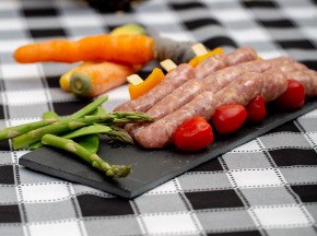 La ferme Grandvillain - Brochettes De Mini Saucisses De Poulet - Bleu & Noix - 3 X 120 G