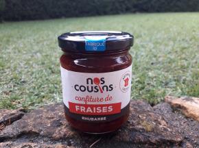 Nos cousins Conserverie - Confiture De Fraise - Rhubarbe 240g