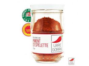 Urre Gorria - Famille Rivière-Gahat - Poudre De Piment D'espelette Aop 40g