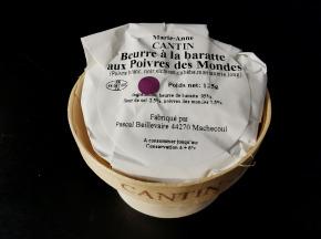 La Fromagerie Marie-Anne Cantin - Bourriche De Beurre Pasteurisé À La Baratte Aux Poivres Des Mondes  - 125 Gr