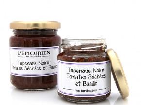 L'Epicurien - TAPENADE NOIRE AUX TOMATES SECHEES ET BASILIC