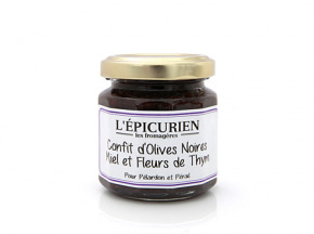 L'Epicurien - CONFIT D'OLIVES MIEL ET FLEURS DE THYM - pélardon ou pérail