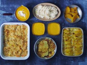 Multiproductions - Cédric Joliveau - Panier Batch Cooking Végétarien Jaune - 5 Plats pour 4 Personnes