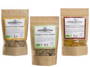 Crackers Résurrection - Lot de 3 sachets de crackers (châtaigne, petit épeautre, sarrasin)