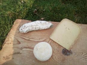 La ferme Lassalle - Plateau Apéro Des Pyrénées : Saucisson De Mouton, Ossau Iraty De Printemps, Lactique De Brebis