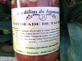 Les Délices du Scamandre - Estofade De Taureau Bio - Lot de 3 bocaux de 650g