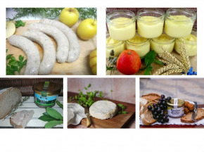 """Ferme du caroire - Panier Repas Complet """"boudins Blancs"""" : Entrée, Plat, Fromage Et Dessert (4 Personnes)"""