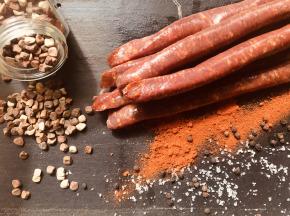 Du bio dans l'assiette - [Précommande] Merguez Douce de Porc Gascon / Duroc Bio 500 G