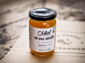La Ferme d'Auzannes - Miel de Printemps de nos Abeilles 250 g