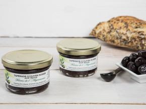 La Ferme de l'Ayguemarse - 2 Pots de Tapenade d'olive Noire de Nyons AOP