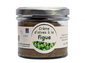 Les amandes et olives du Mont Bouquet - Crème d'olives aux figues 100 g