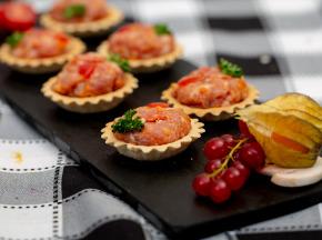 La ferme Grandvillain - Mini Tartelettes - Poulet, Chorizo & Emmental - 6 X 15 G
