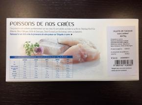 AQUADIS NATURELLEMENT - [surgelé] Filets De Tacaud Sans Peau Et Sans Arêtes 40/70gr