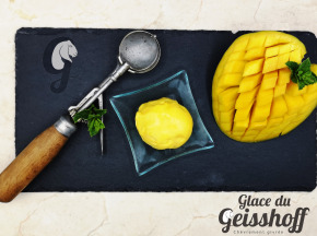 Glace du Geisshoff - Mangue Crème Glacée Fermière au Lait de Chèvre 750 ml