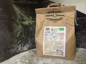 Moulins de Versailles - Farine De Blé Bio T150 / Intégrale - 5kg