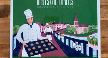 Biscuiterie Maison Drans - Boîte Fer Garnie De Sablés Au Beurre Aop 1000g - Vert