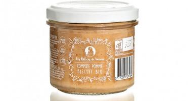 Les délices de Noémie - Lot de 3 Compotes Pomme - Biscuit Bio pour Bébé dès 10 mois
