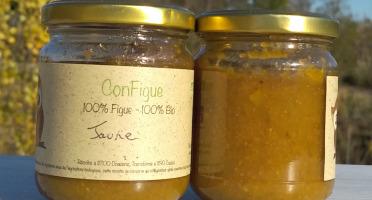 Le Ziboud'Terre - Producteur de figues - .ConFigue de Figue Jaune BIO 200 g