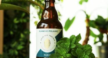 Sous les fraises - Epicerie des Toits de Paris - Bière blanche polaire - 33cl