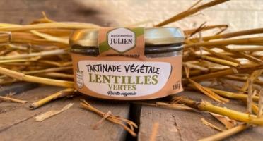 Les Champs de Julien - Tartinade de Lentilles vertes