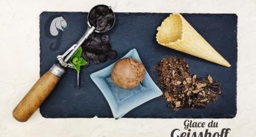 Glace du Geisshoff - Chocolat Noir 72% Sumatra Crème Glacée Fermière au Lait de Chèvre 750 ml
