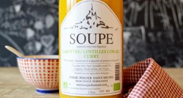 La Ferme du Polder Saint-Michel - Soupe Carotte - Lentille Corail - Curry - 50cl